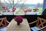 Balkon der Ferienwohnung für den Familienurlaub in der Lüneburger Heide für 2 Personen