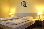 Schlafzimmer der Ferienwohnung für den Familienurlaub im Ferienclub Lüneburger Heide
