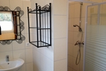 Badezimmer der Gruppenhaus Zimmer für 2 Personen in der Lüneburger Heide